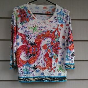 Vintage 90s dragon shirt
